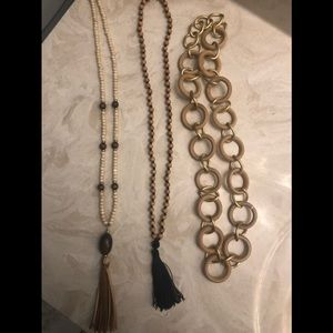 Lot of Modern Organic Necklaces